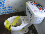 Graffiti on the toilet