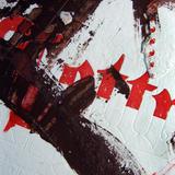 paper samples rock mixed media