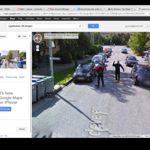 Scuba Divers Chase Google Maps Van  image