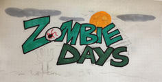 Zombie Days Inked Sketch